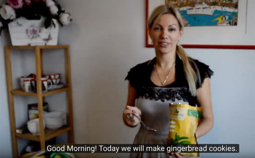First Video – Sugar-Free Gingerbread dough with Golden Stevia